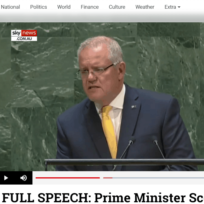 PM Scott Morrison shares Licella's Cat-HTR technology in address to UN General Assembly