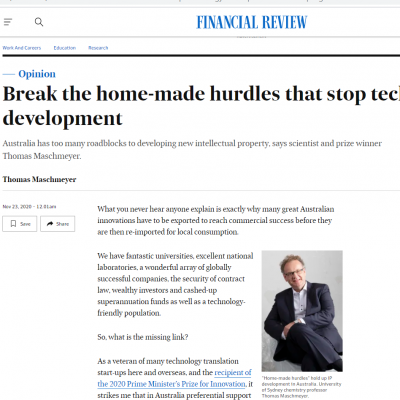 AFR Opinion: Break the home-made hurdles that stop technology development